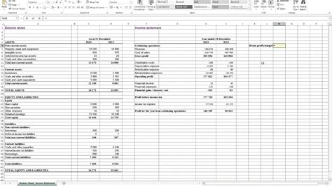 Calculating Gross Profit Margin In Excel Youtube Profit Calculator Excel Template