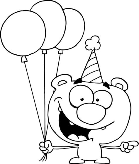 coloring pages of birthday hats birthday hat coloring pages coloring pages