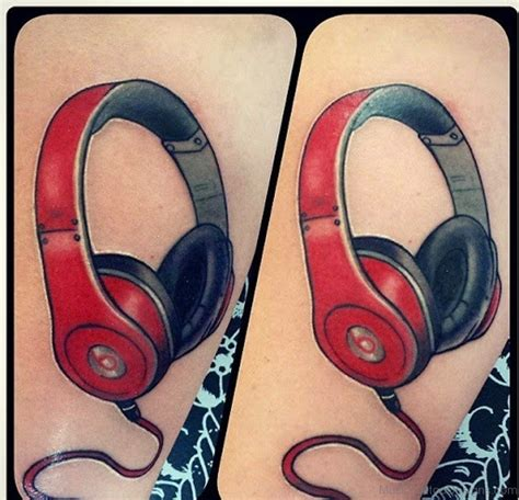 headphone tattoos 51 stunning tattoos for guys