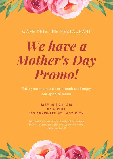 customize  restaurant flyer templates  canva