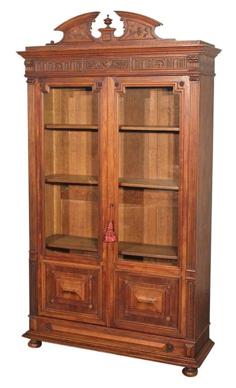 Eastlake Bookcase Antique Eastlake Victorian Walnut Bookcase Display Chairish