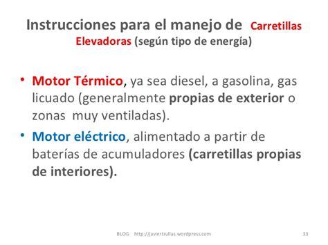 instrucciones para salvar el 8420473790 instrucciones para el manejo de carretillas elevadoras