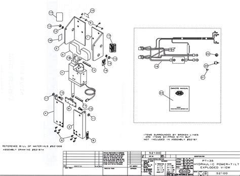 35 parts diagram cmc pt 35 tilt and trim 52100 replacement parts