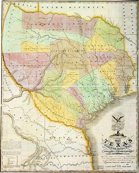 texas 1836 map texas revolution maps