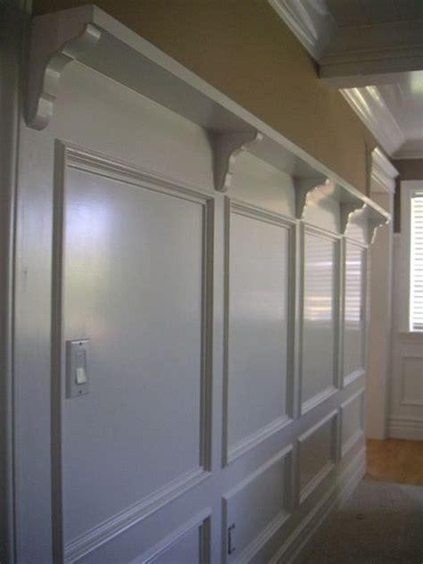 wallpanelswainscotingidea by crown molding via flickr