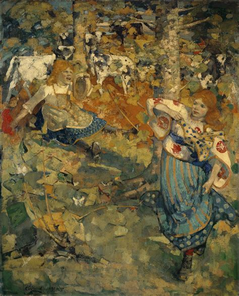 painting artist file edward atkinson hornel summer project
