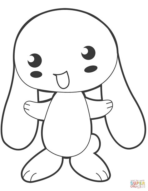 bunny coloring page anime bunny coloring page free printable coloring pages