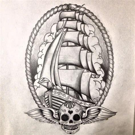 old school ship tattoo designs school ship design by dazzbishop