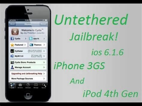 iphone 3g ios 6 download how to untethered jailbreak iphone 3gs ios 6 1 6 youtube
