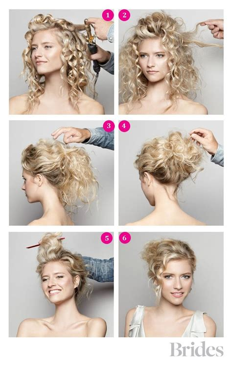Hairstyles For Curly Hair Diy | diy hairstyle messy curly bun diy ideas crafts