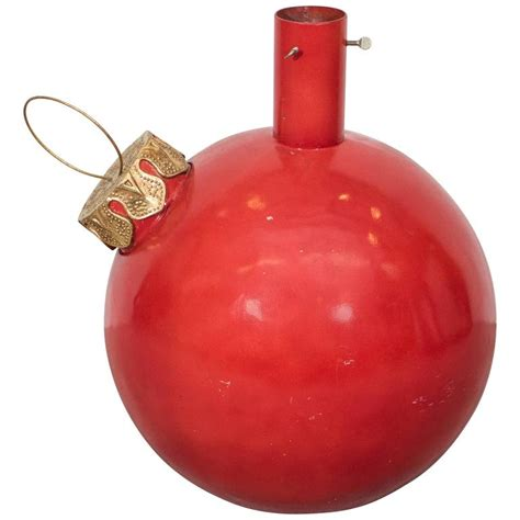 large red ball ornament christmas tree stand for sale at