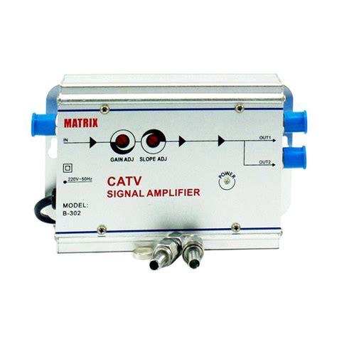 Penguat Sinyal Tv Catv Signal Lifier Booster Indoor 4 Way 1 jual matrix penguat booster sinyal tv indoor 2way splitter catv lifier harga