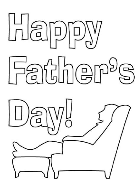 coloring page father s day card happy father s day coloring pages