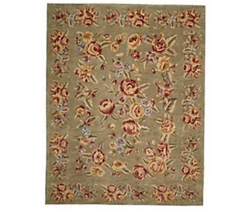 qvc royal palace rugs royal palace floral garden 73x93 handmade wool rug qvc