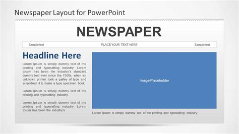 newspaper template powerpoint newspaper powerpoint template slidemodel