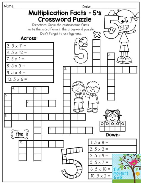 Free Printable Math Puzzles For 3rd Grade best of free printable crossword puzzle downloadtarget