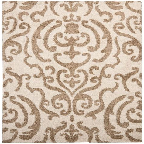 4 square rug safavieh florida shag beige 4 ft x 4 ft square area rug sg462 1113 4sq the home depot