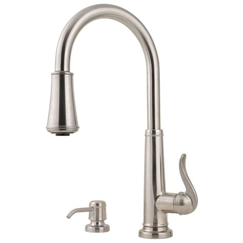 kitchen faucet with sprayer glacier bay market single handle pull sprayer kitchen faucet in stainless steel 67551