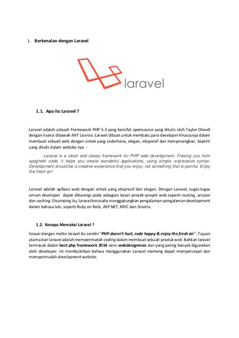 laravel tutorial application tutorial penggunaan laravel