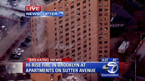 brownsville section of brooklyn eight people injured in brownsville fire ny daily news
