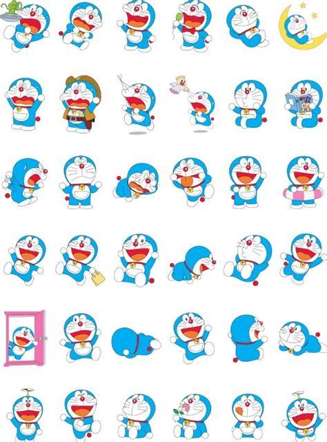 set  vector cartoon doraemon icons titanui