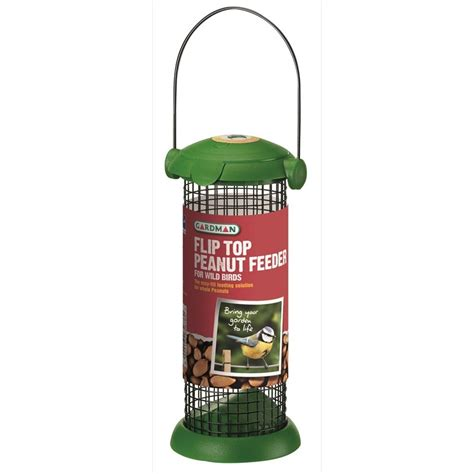 flip top peanut feeder for wild birds the garden factory
