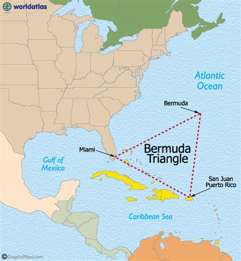 bermuda world map the bermuda triangle map and details