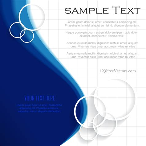 blue background template illustrator free 123freevectors