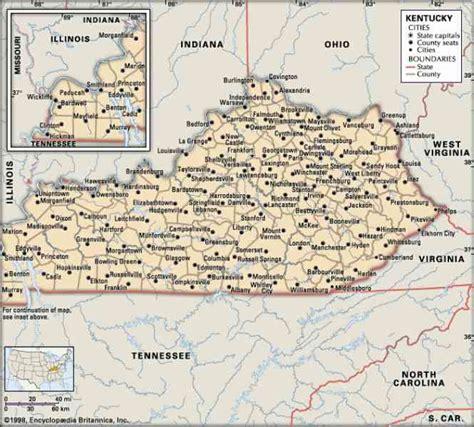 kentucky cities map kentucky city map map travel holidaymapq