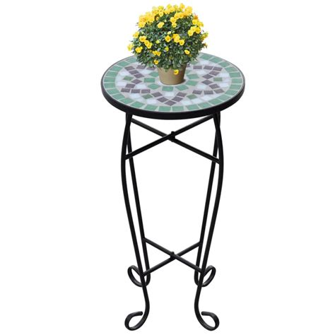 plant table vidaxl co uk mosaic side table plant table green white