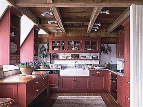rustic red kitchen cabinets barn red rustic kitchen cabinets
