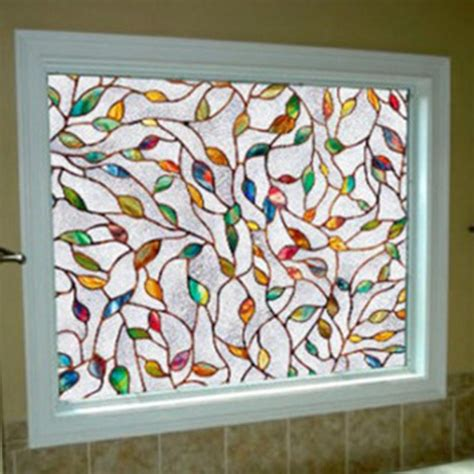 Decorative Window Stickers For Home by 45x100cm 3d Colors Sunscreen Glass Window Home