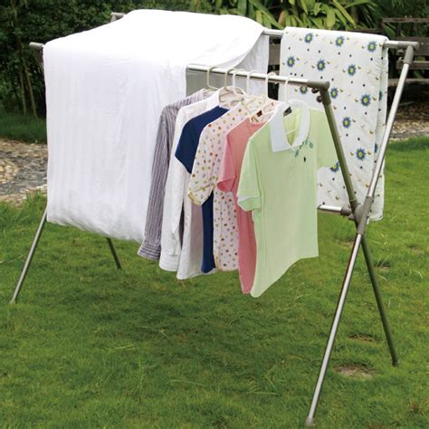 Outdoor Clothes Hanger Rack by Outdoor Steel Detachable Clothes Racks For Drying Clothes