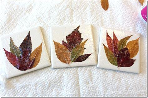 diy homemade leaf coaster craft confessions of a homeschooler