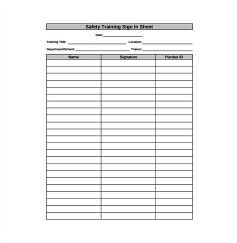 18 Sign In Sheet Templates Free Sle Exle Format Download Free Premium Templates Patient Sign In Sheet Template Pdf