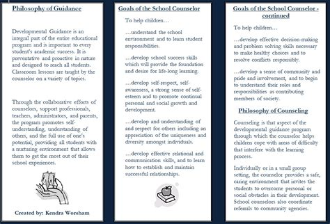 school counselor brochure koch elementary guidance