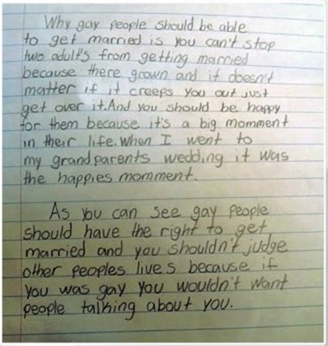 Pro Homosexuality Essay by Pro Marriage Essay By Fourth Grader Goes Viral The Gossip