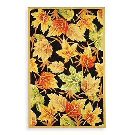 leaf pattern runner rug safavieh chelsea black wool leaf pattern rugs www