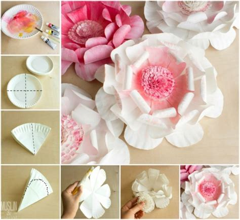How To Make Paper Plate - wonderful diy paper plate flower