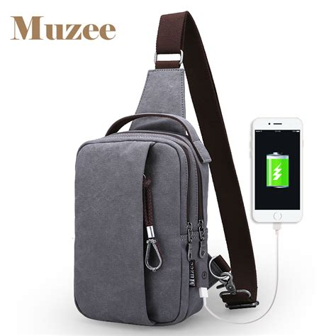 Tas Pria Selempang Import Usb Charger muzee tas selempang dengan usb charger port dengan dompet coffee jakartanotebook