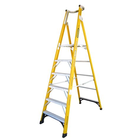 safety step stool bunnings ladder p form f glass gorilla 1 8m step 150kg fpl006 i