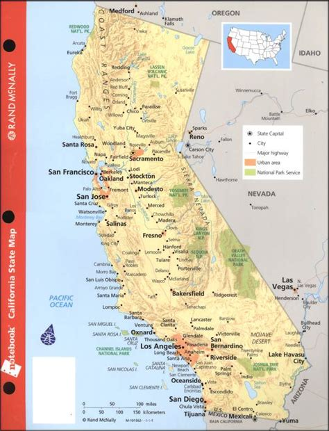 california map geographical california map geographical features