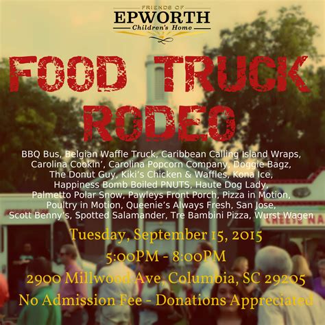 epworth food truck rodeo epworth children s home