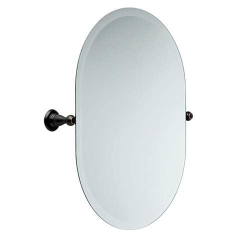 delta bathroom mirrors delta porter 26 in x 23 in frameless oval bathroom