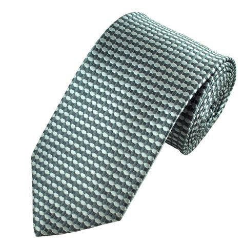 grey pattern tie silver grey hexagon square patterned tie from ties