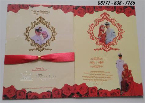 hardcover wedding card malaysia undangan hardcover tni eksklusif dengan pita merah ratu