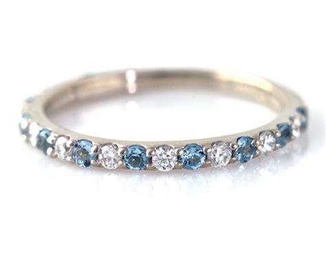 aquamarine ring aqua anniversary band diamonds aqua