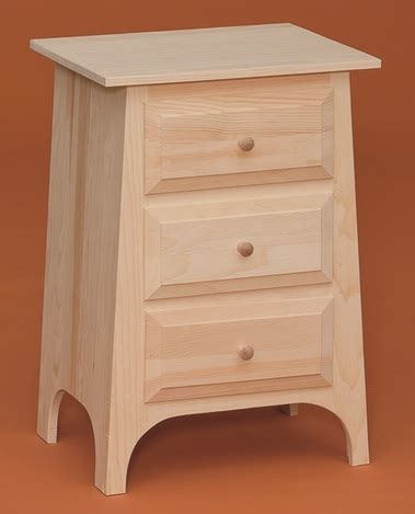 Unfinished Furniture Nightstand Three Drawer Nightstand Starkwood Unfinished Furniture Starkwood Unfinished Furniture