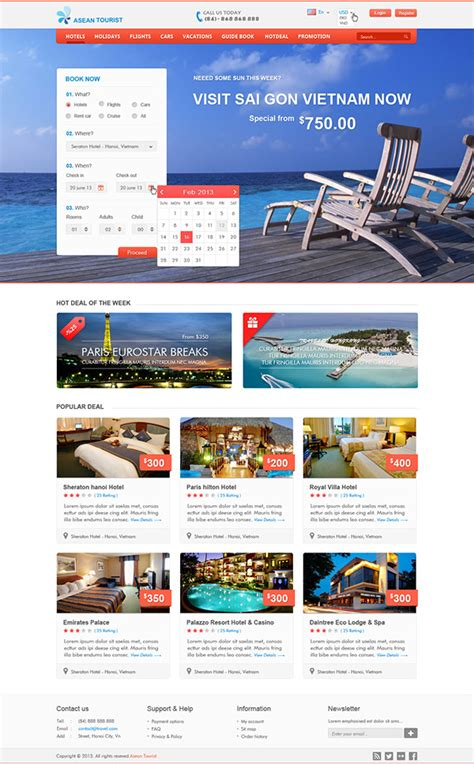 travel booking online psd templates on behance