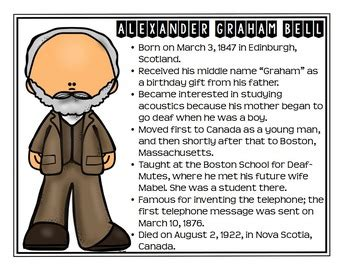 alexander graham bell biography worksheet alexander graham bell inventor study biography activity